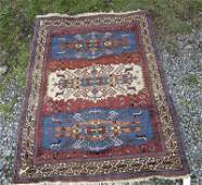Old Caucasian Oriental rug 60 by 46 inches Condition
