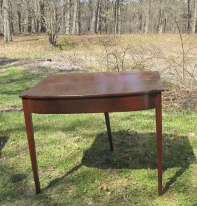 Antique Federal Card Table. Condition: Leaf Unattached.