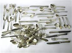 60 + pieces partial Towle and other Sterling silver