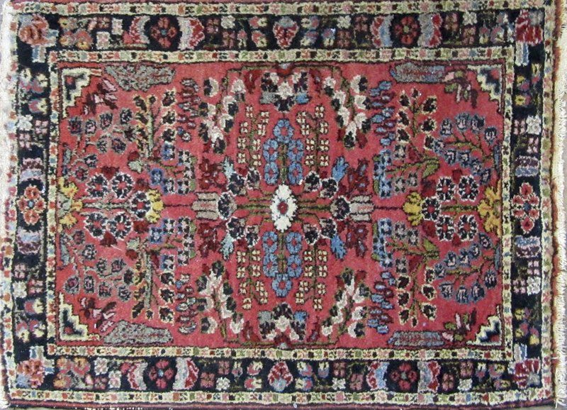 Persian Oriental scatter rug. Condition: good.
