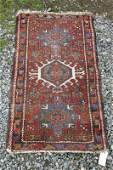 Old Karaja scatter rug 46 by 27 inches Condition