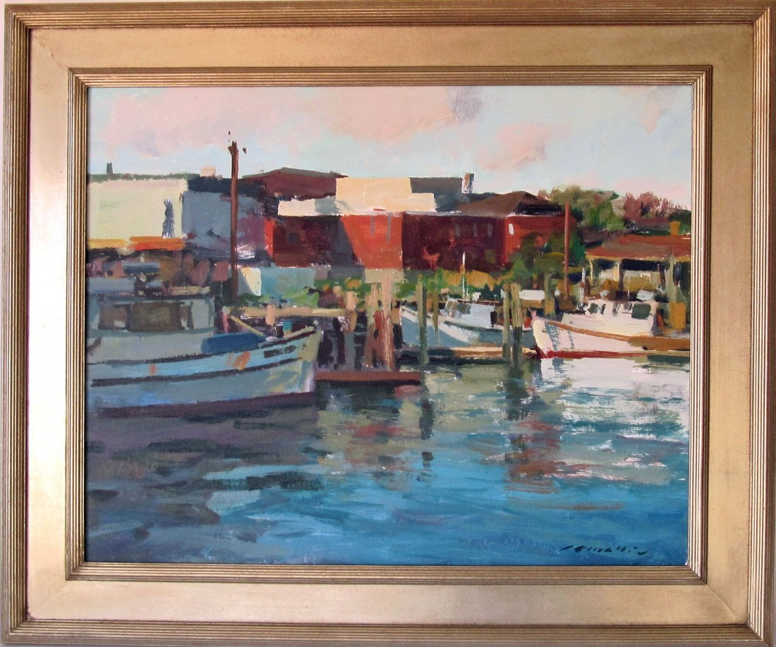 """*Charles Movalli oil on canvas, """"Afternoon Sharp"""
