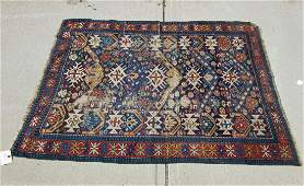 Old Kuba Oriental scatter rug 61 by 45 inches