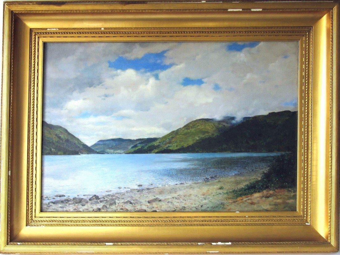 *Francis Davis Millet oil on canvas, identified verso,