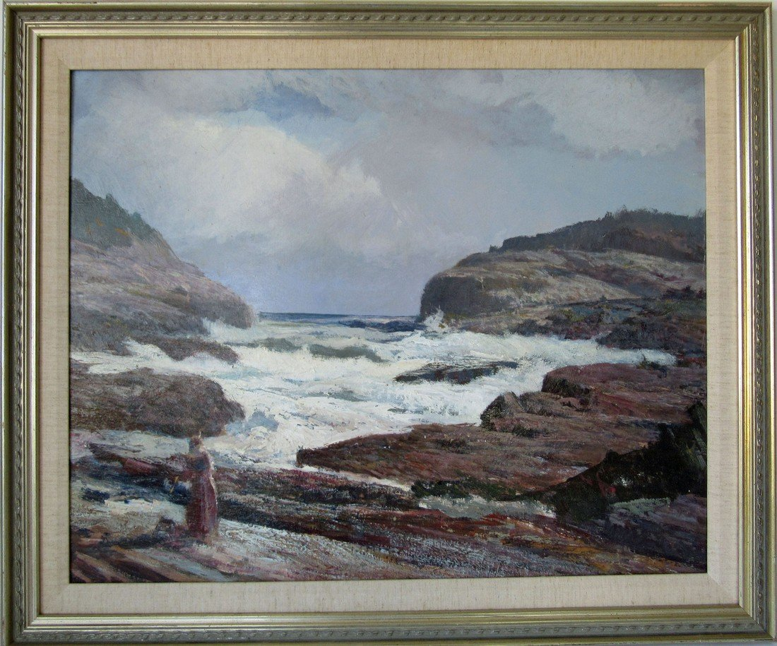 """*Unsigned Howard Curtis acrylic on board, """"The"""