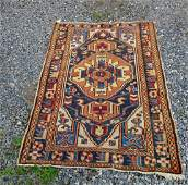 Old Northwest Persian Oriental rug, 61 by 41 inches.