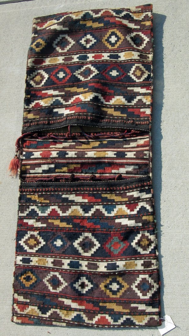 Double Oriental Kilim saddlebag, 22 by 52 inches.