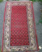 Old Seraband oriental scatter rug 50 by 30 inches