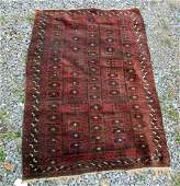 Old Baluch scatter rug 50 by 35 inches Condition