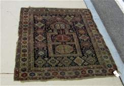 Old Kuba Oriental scatter rug 58 by 45 inches
