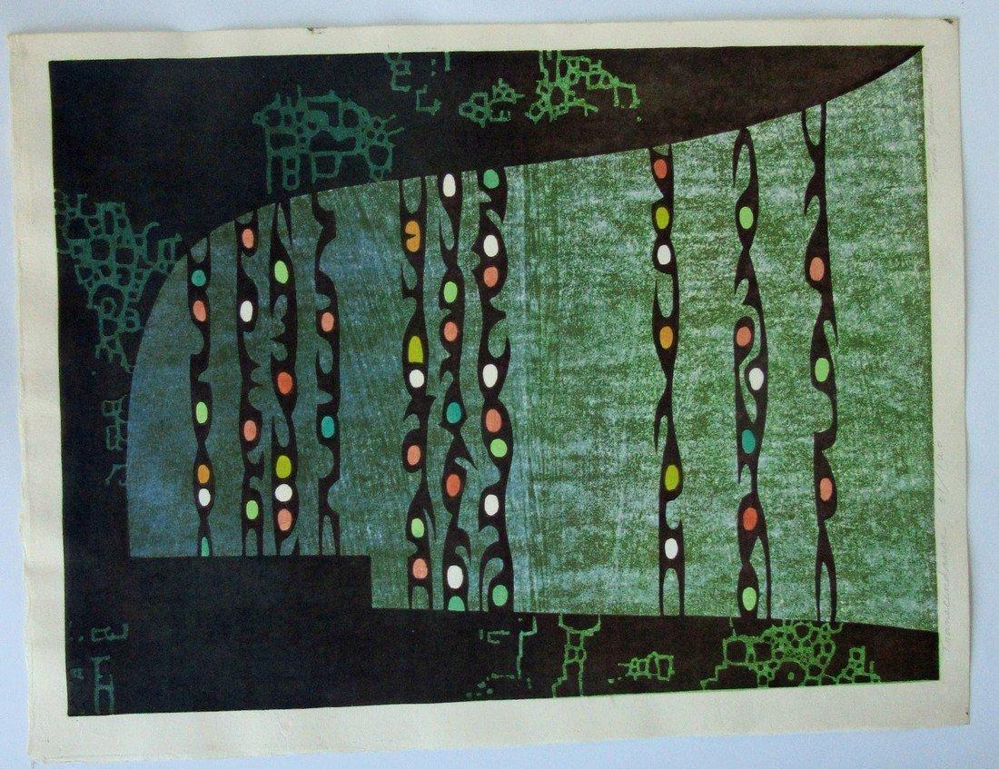 Toshi Yoshida Japanese woodblock print,