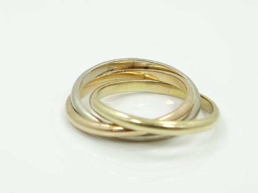 Cartier 18K Tri-Color Gold Trinity Rolling Ring