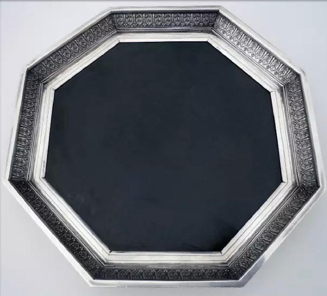 Karl Faberge Nephrite 84 Silver Footed Trivet