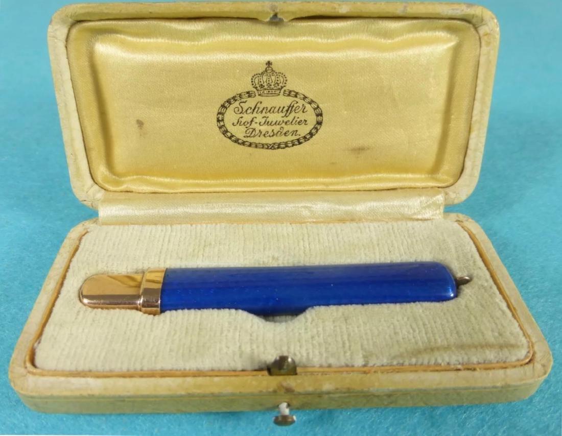 """Faberge (Alan Adler) Solid """"56"""" Rose Gold & Royal Blue"""