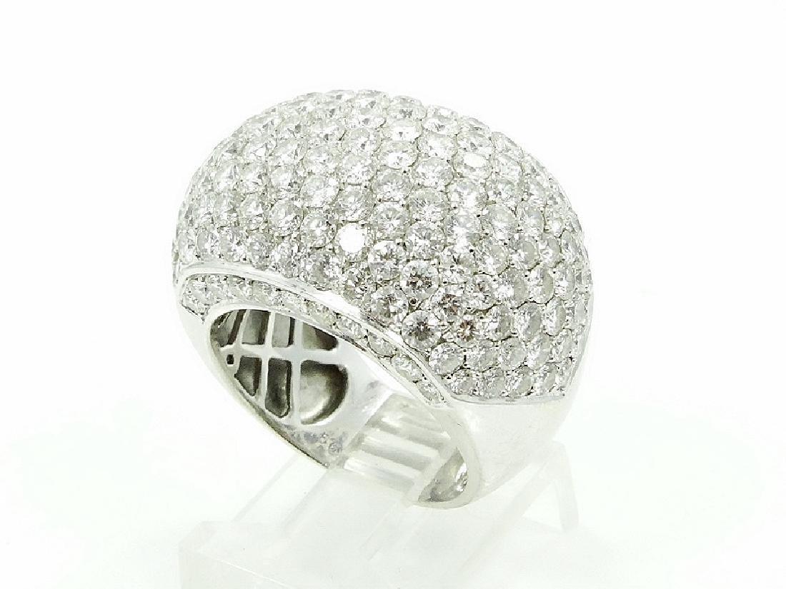 6.50ctw VS2-SI1/G-H Diamond 18K Cocktail Ring