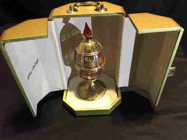 Theo Faberge Limited Edition 24k Gilt/.925 Egg