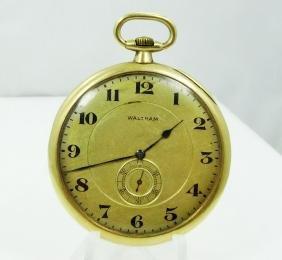 Waltham 14K 17J Pocket Watch (Only 24,500)WORKING