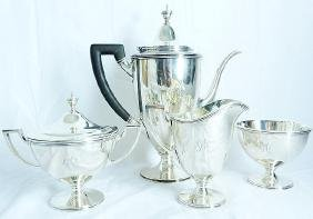 "Tiffany&Co. ""Hamilton"" Sterling Silver Coffee Set"