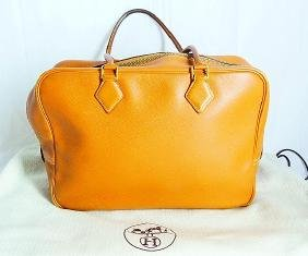 Hermes 32cm Gold Courchevel Leather Plume Bag