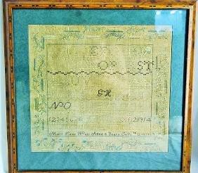 19th C. Embroidered Child's Alphabet Sampler