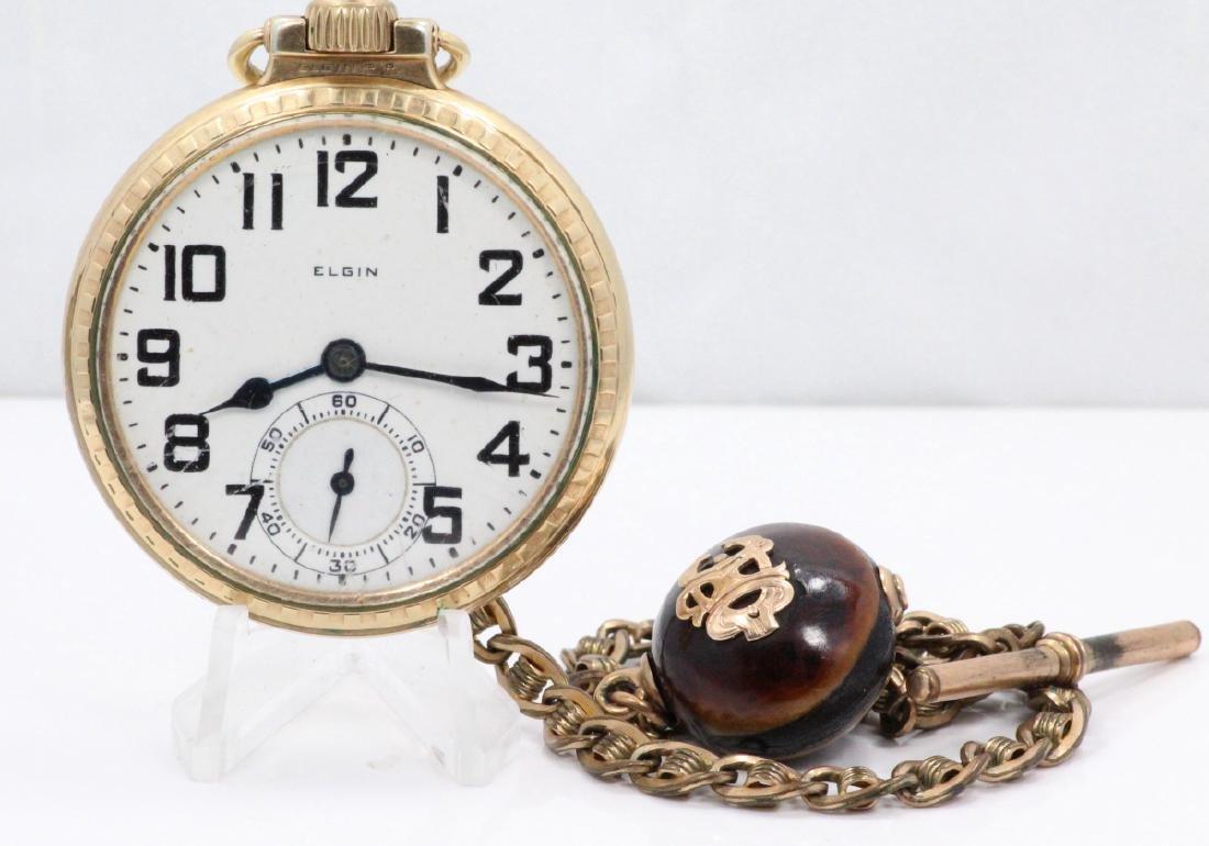 1923 Elgin 21 Jewel Open Face Pocket Watch