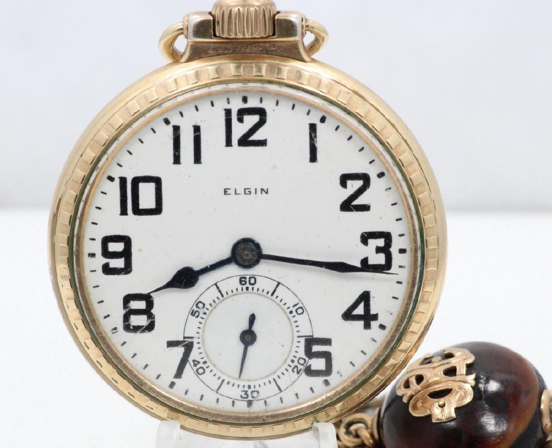 1923 Elgin 21 Jewel Open Face Pocket Watch - 2