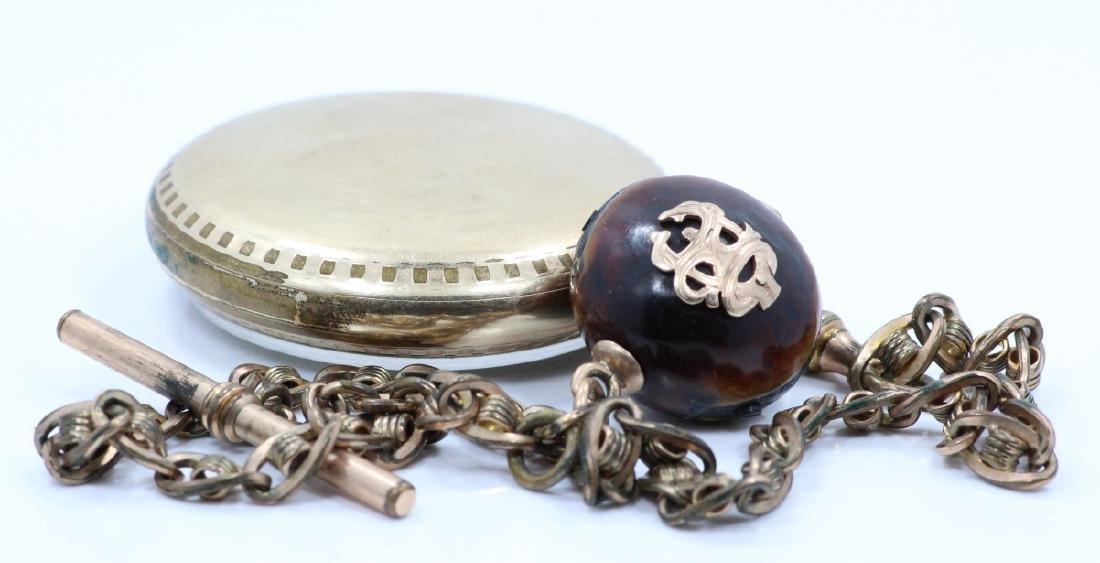 1923 Elgin 21 Jewel Open Face Pocket Watch - 3