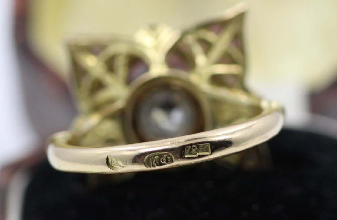 Karl Faberge 18K & Plat 2.30ct Diamond Ring - 10
