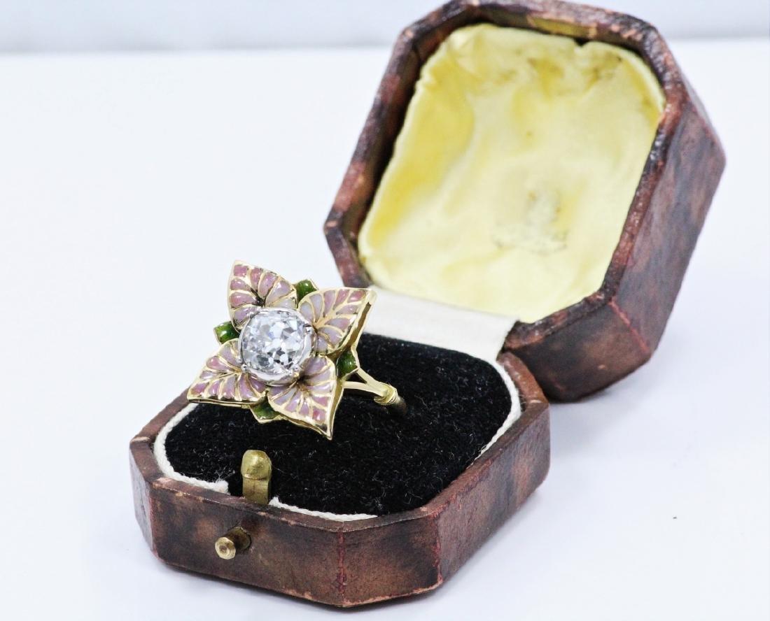 Karl Faberge 18K & Plat 2.30ct Diamond Ring