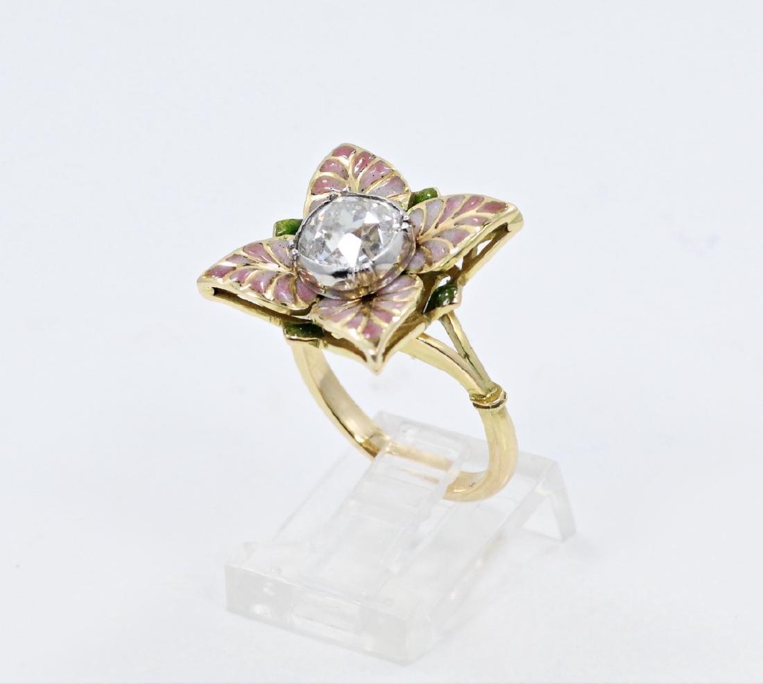 Karl Faberge 18K & Plat 2.30ct Diamond Ring - 2