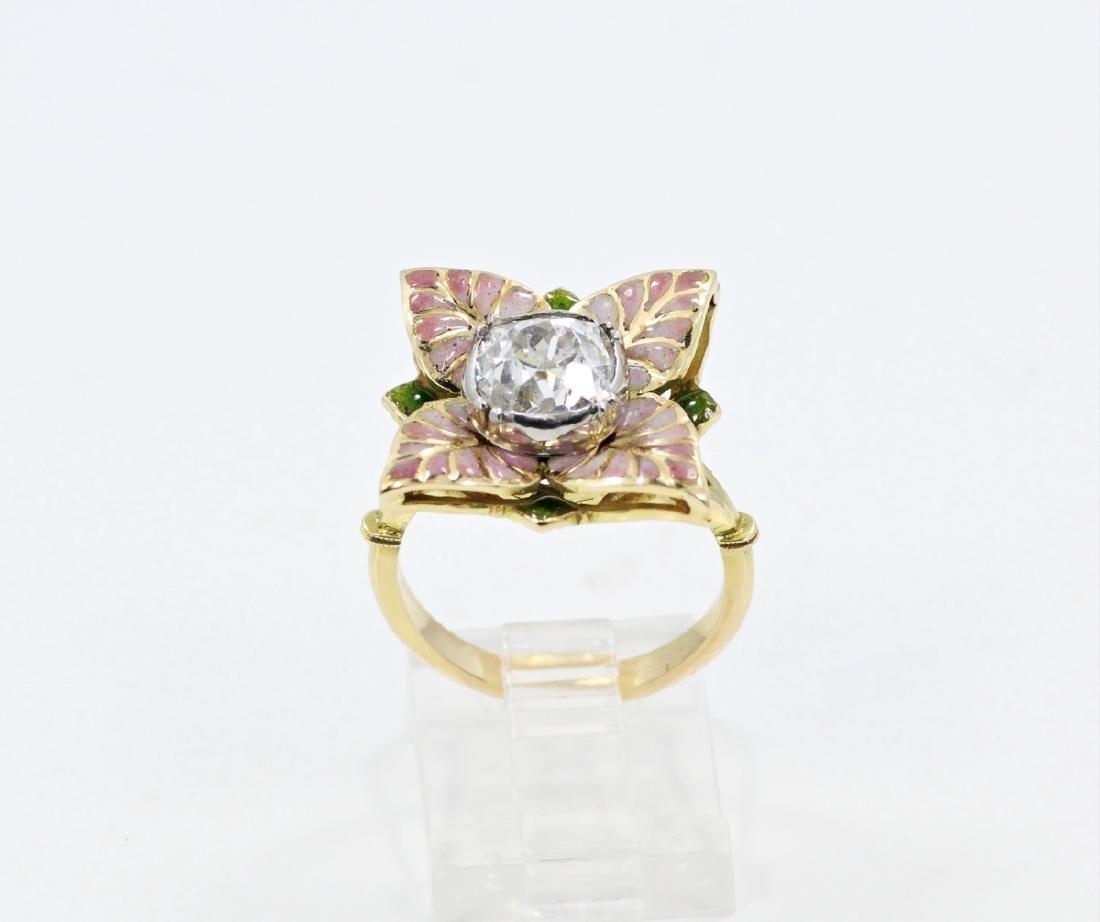 Karl Faberge 18K & Plat 2.30ct Diamond Ring - 3