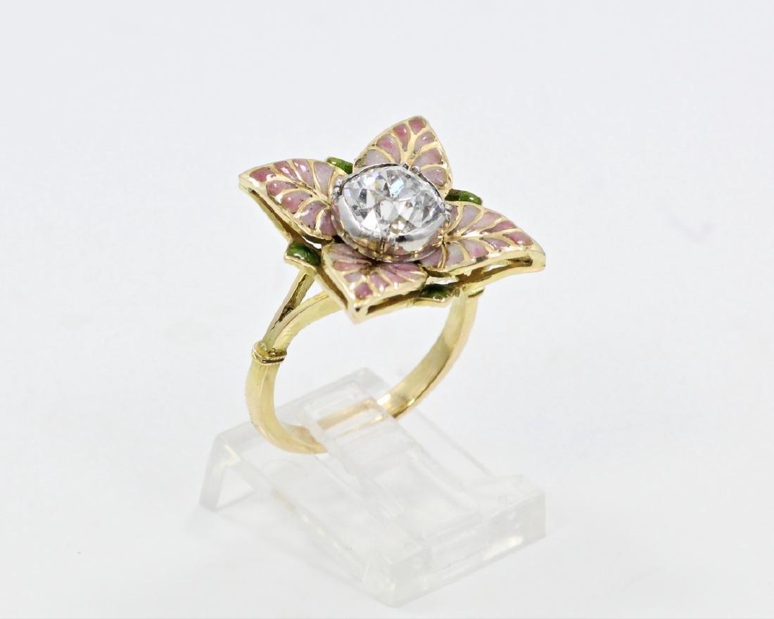 Karl Faberge 18K & Plat 2.30ct Diamond Ring - 4