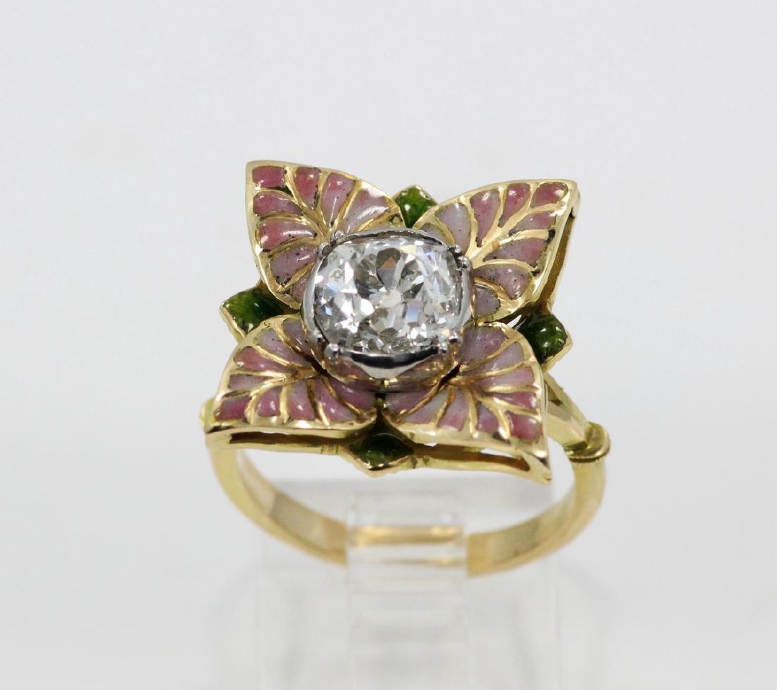 Karl Faberge 18K & Plat 2.30ct Diamond Ring - 5