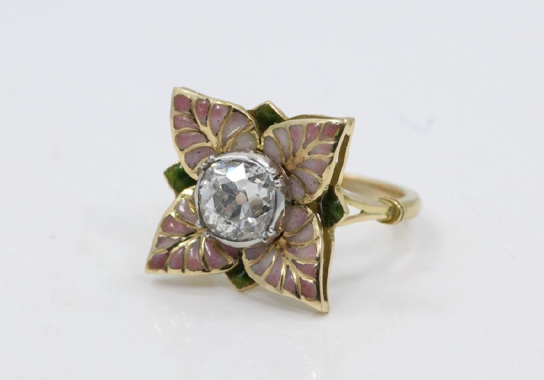 Karl Faberge 18K & Plat 2.30ct Diamond Ring - 6
