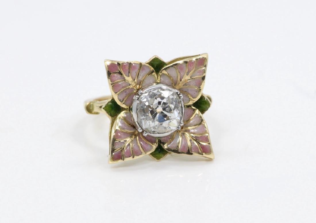 Karl Faberge 18K & Plat 2.30ct Diamond Ring - 7