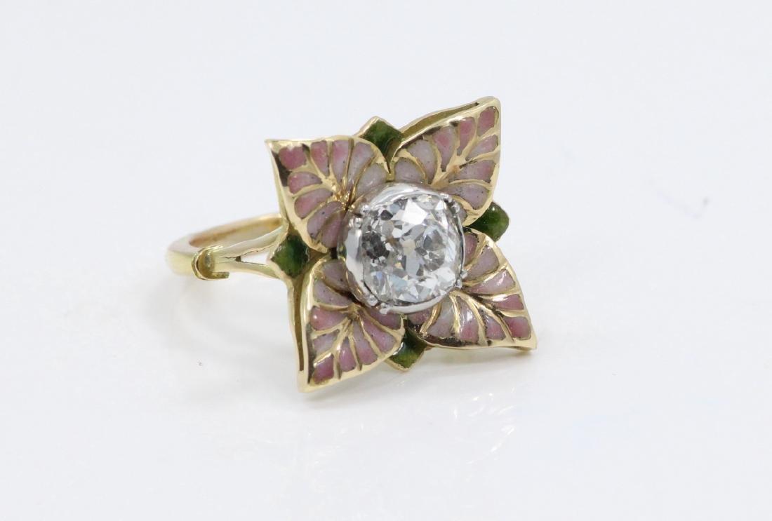 Karl Faberge 18K & Plat 2.30ct Diamond Ring - 8