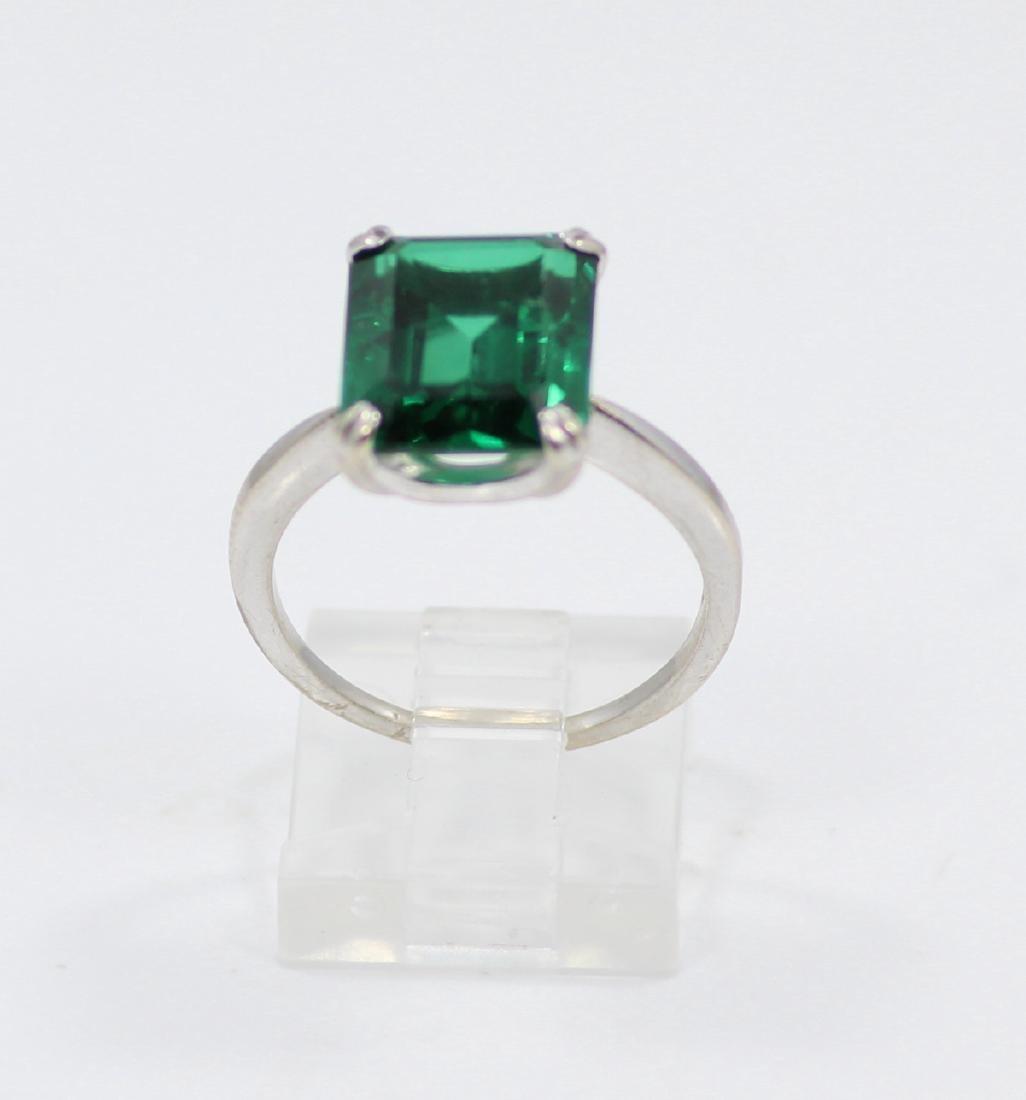 14K Gold Ring W/4.50ct Emerald-Cut Gemstone - 2