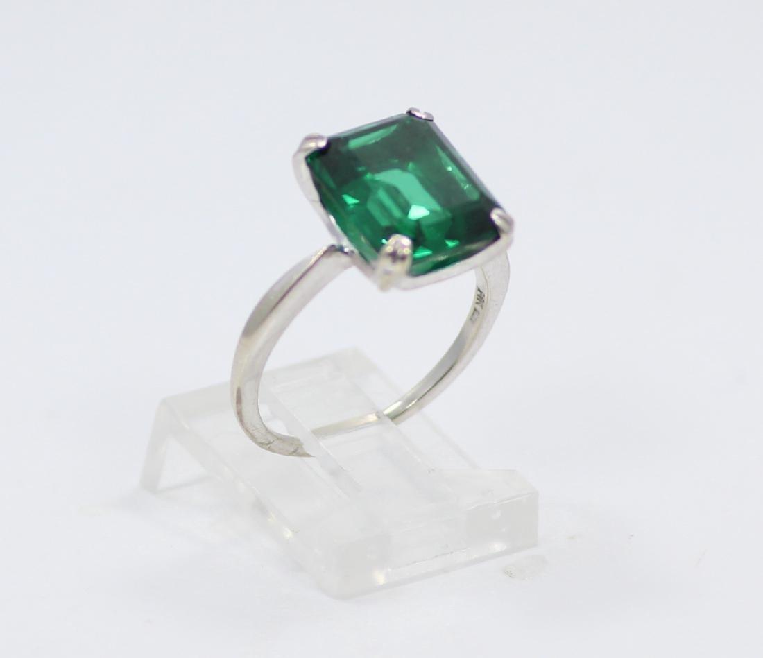 14K Gold Ring W/4.50ct Emerald-Cut Gemstone - 3