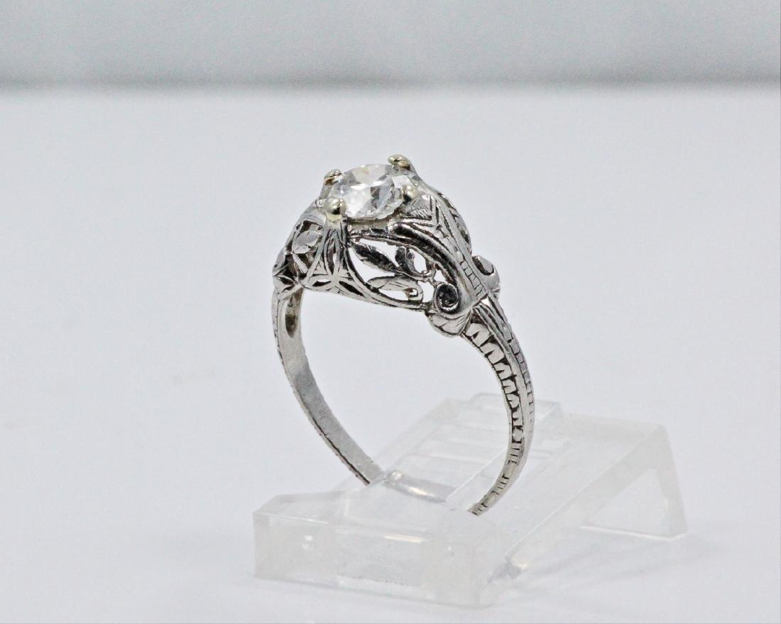 Art Nouveau 0.50ct Diamond & Platinum Ring