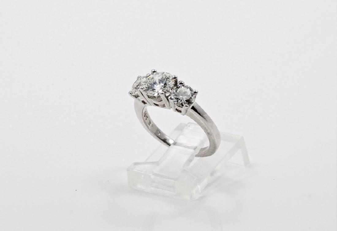2.55ctw Diamond & 14K White Gold Trilogy Ring