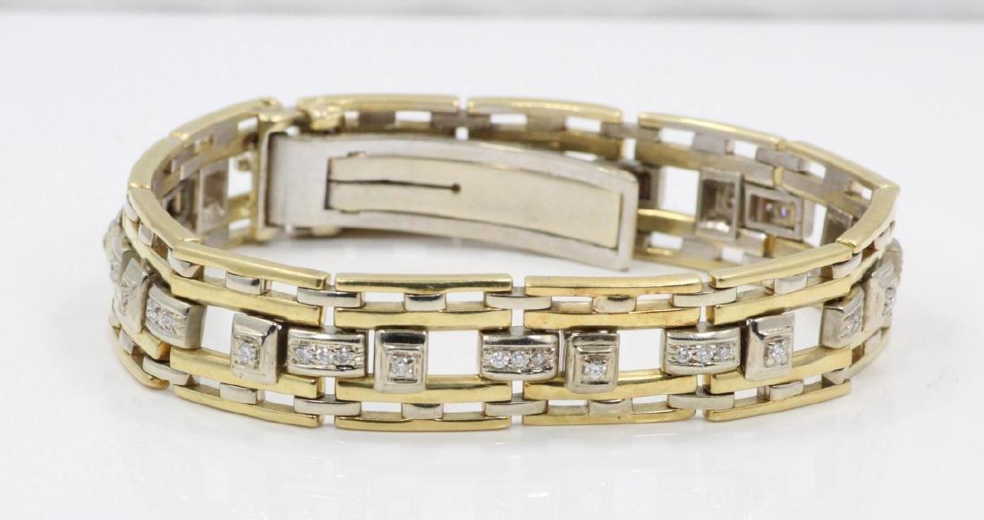 2.00ctw Diamond & 18K Yellow/White Gold Bracelet