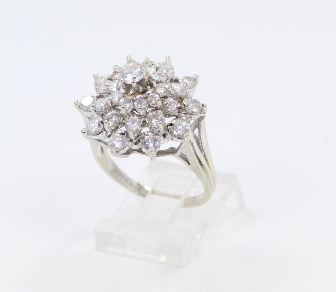 2.50ctw VS2-SI1/G-H Diamond & 14K Cocktail Ring