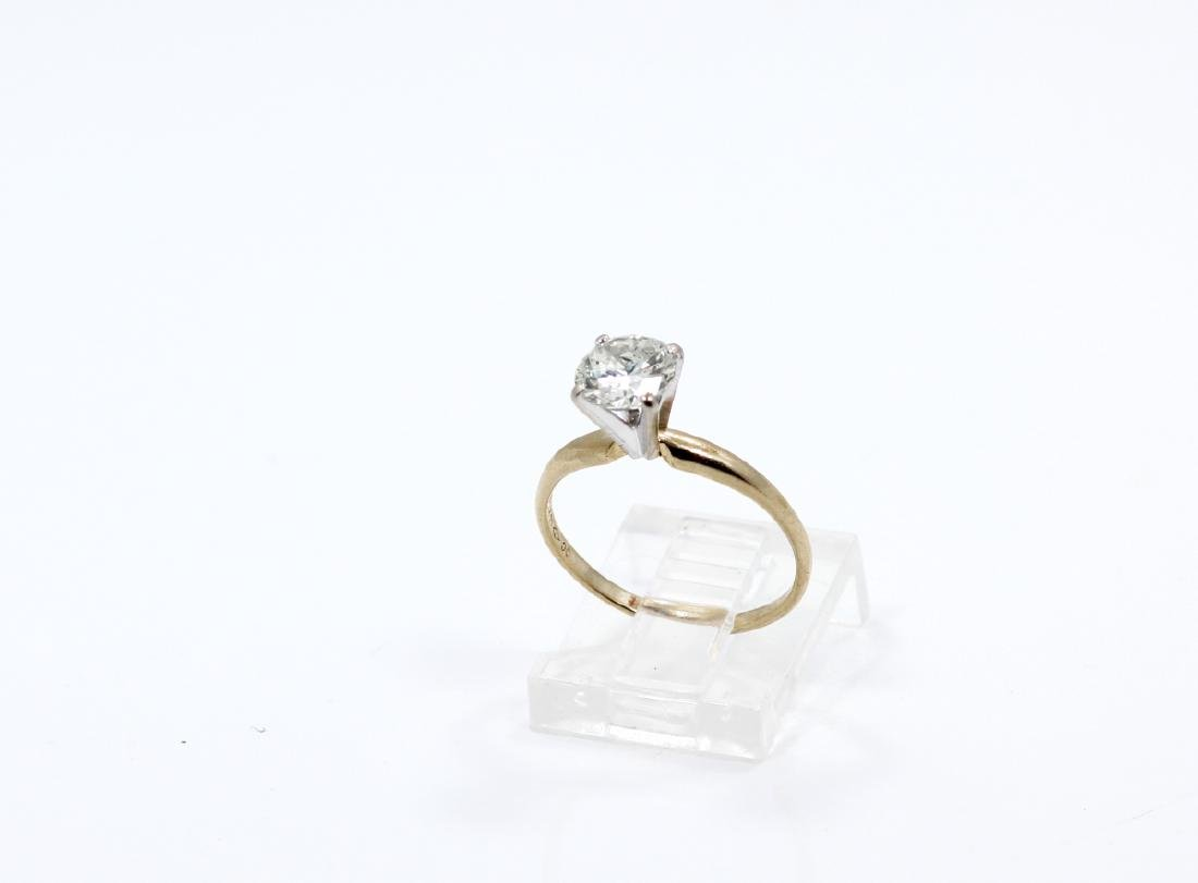 1.01ct Diamond in Solid 14K Yellow Gold Setting