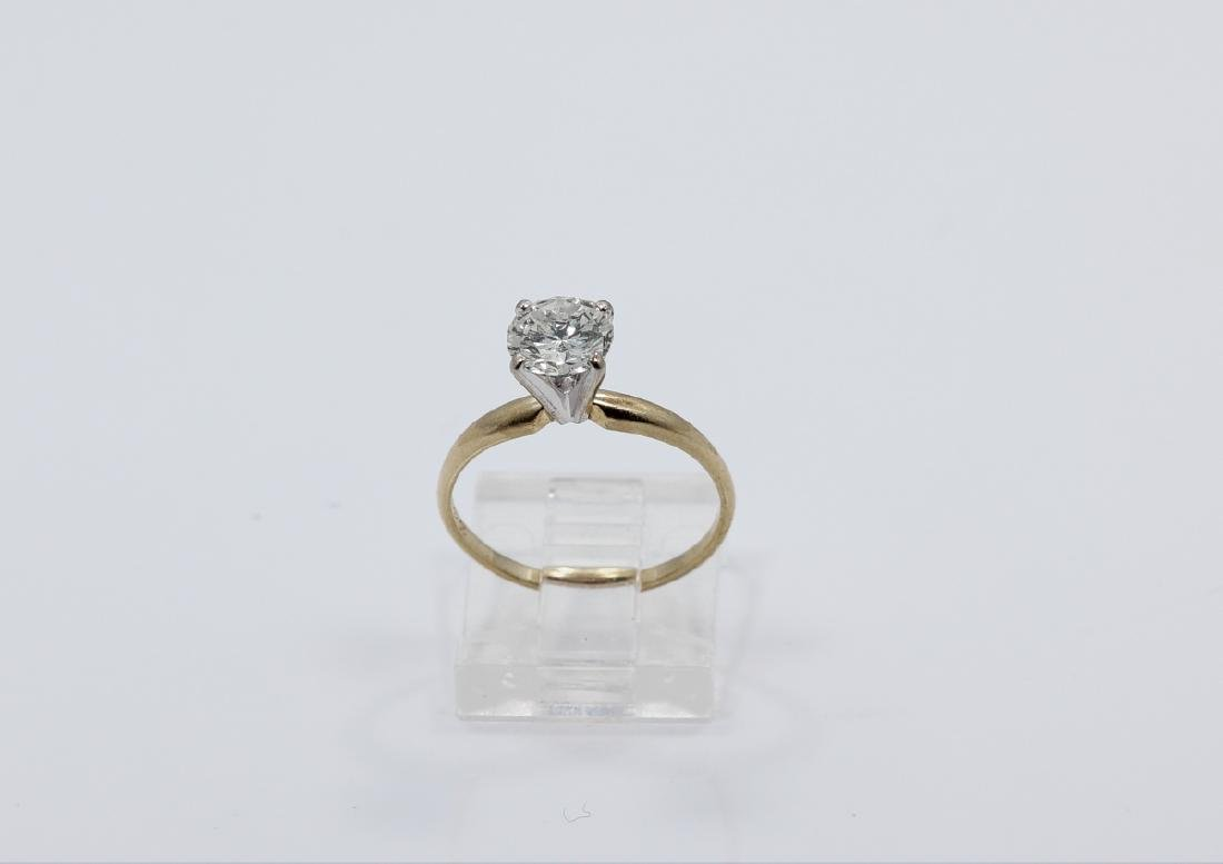 1.01ct Diamond in Solid 14K Yellow Gold Setting - 2