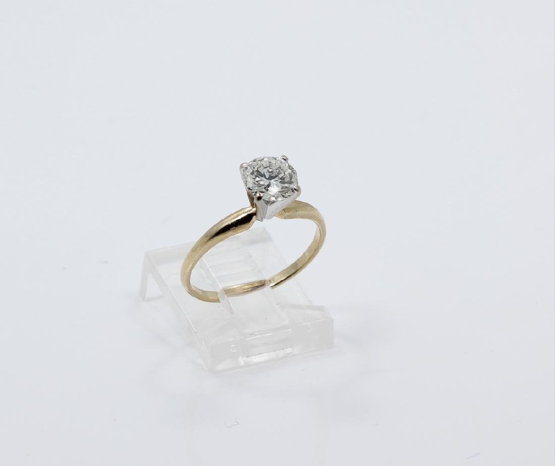 1.01ct Diamond in Solid 14K Yellow Gold Setting - 3