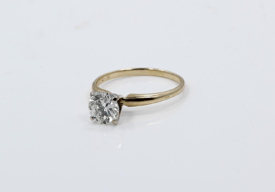 1.01ct Diamond in Solid 14K Yellow Gold Setting - 4