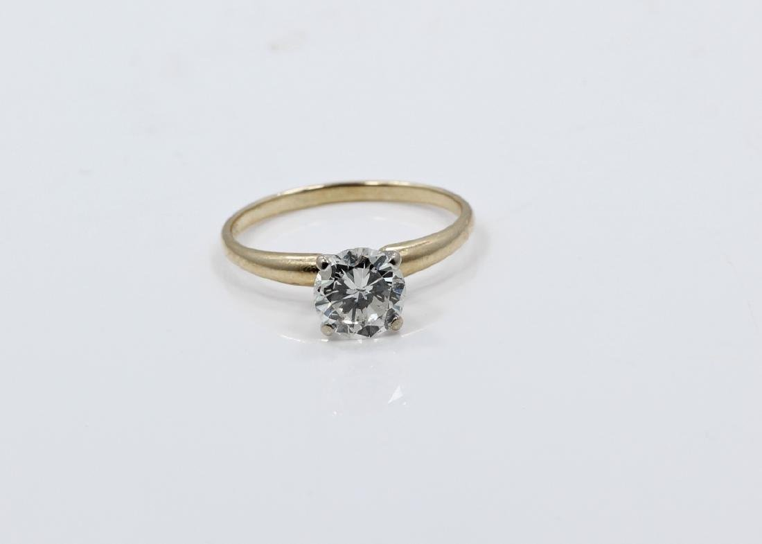 1.01ct Diamond in Solid 14K Yellow Gold Setting - 5
