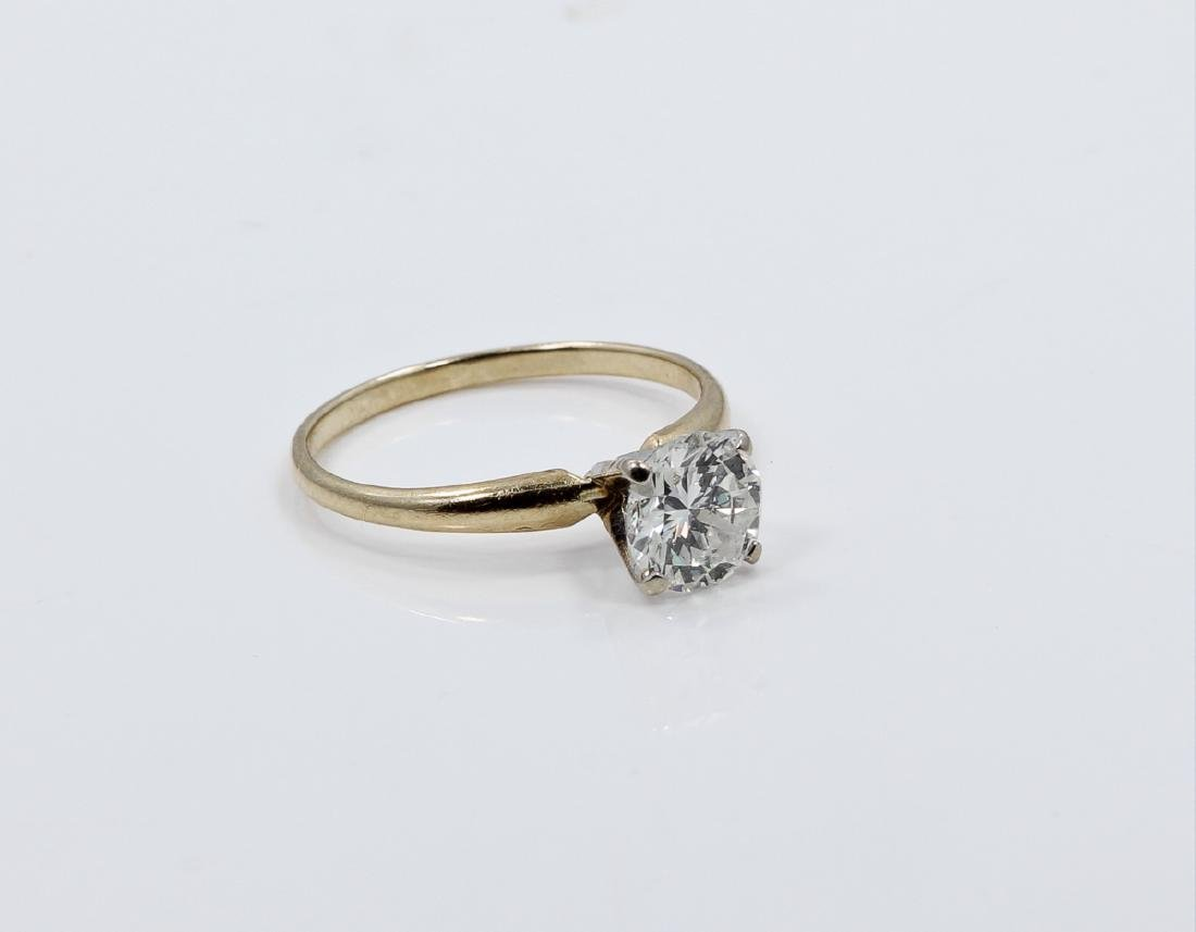 1.01ct Diamond in Solid 14K Yellow Gold Setting - 6