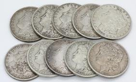 (10) Unsearched Morgan Dollars (90% Silver)