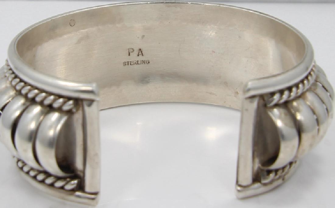 """Priscilla Apache Silver """"Segmented Melon"""" Cuff - 5"""